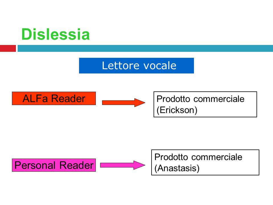 Dislessia ALFa Reader Personal Reader Prodotto commerciale (Erickson)