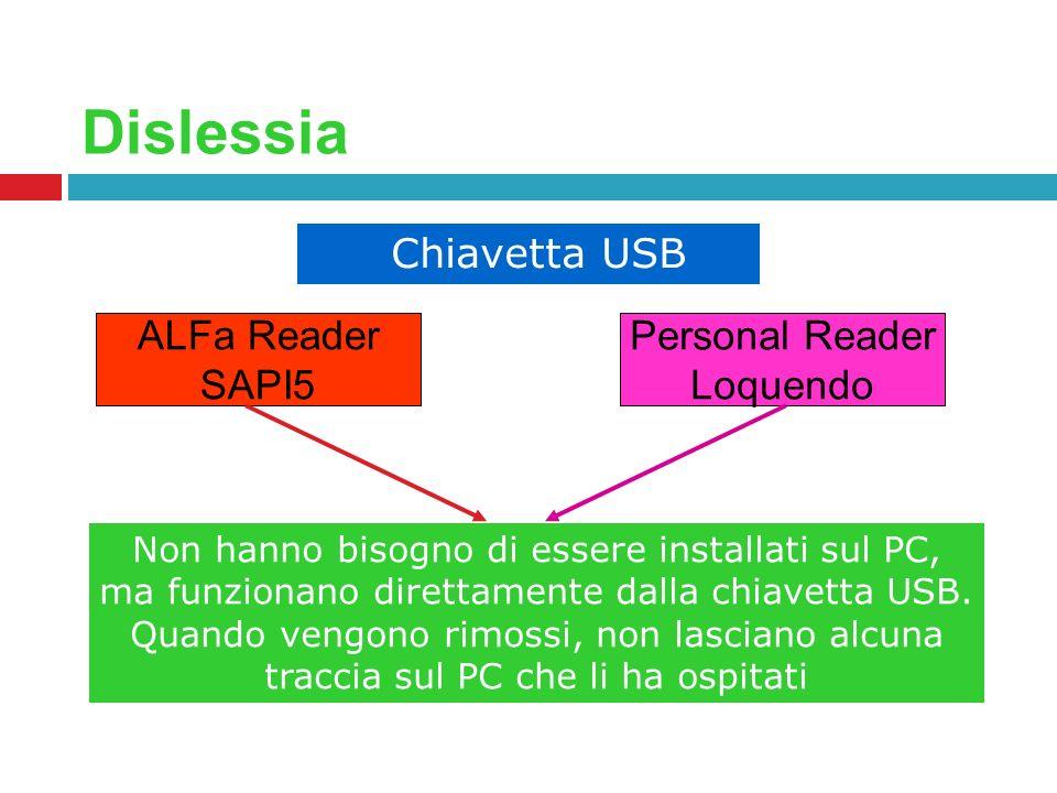 Dislessia ALFa Reader SAPI5 Personal Reader Loquendo