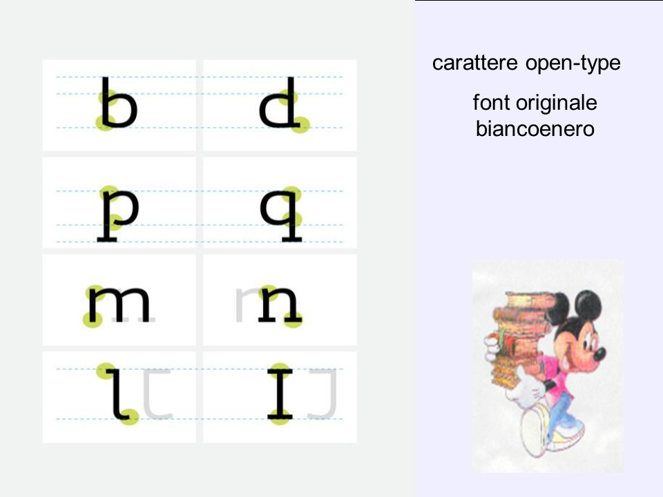 font originale biancoenero
