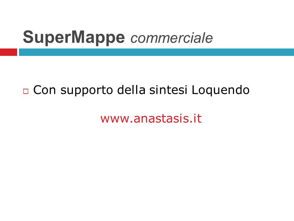 SuperMappe commerciale