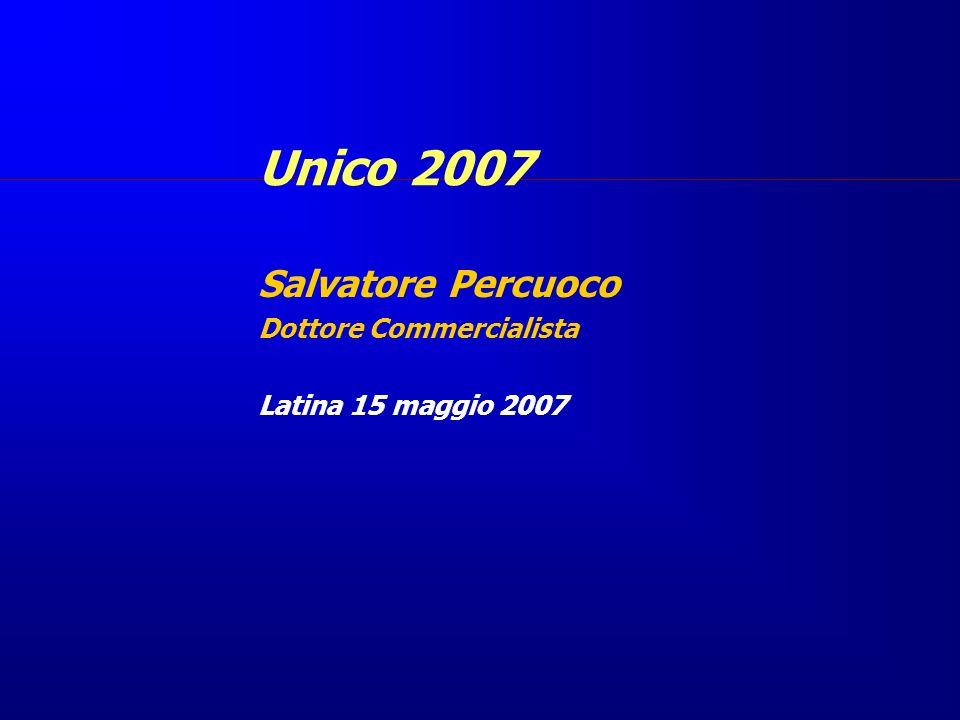 Salvatore Percuoco Dottore Commercialista Latina 15 maggio 2007