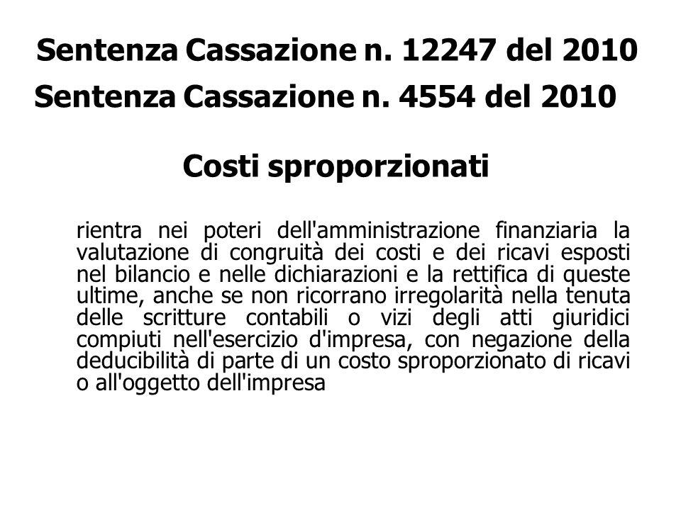 Sentenza Cassazione n. 12247 del 2010