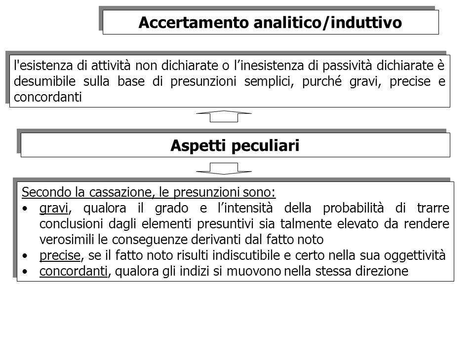 Accertamento analitico/induttivo
