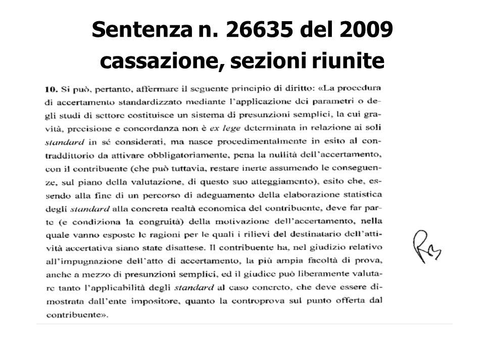 Sentenza n. 26635 del 2009 cassazione, sezioni riunite
