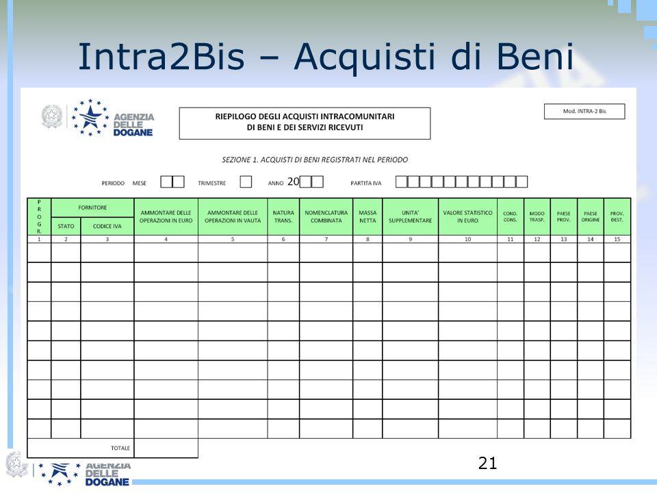 Intra2Bis – Acquisti di Beni