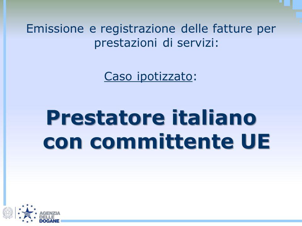 Prestatore italiano con committente UE