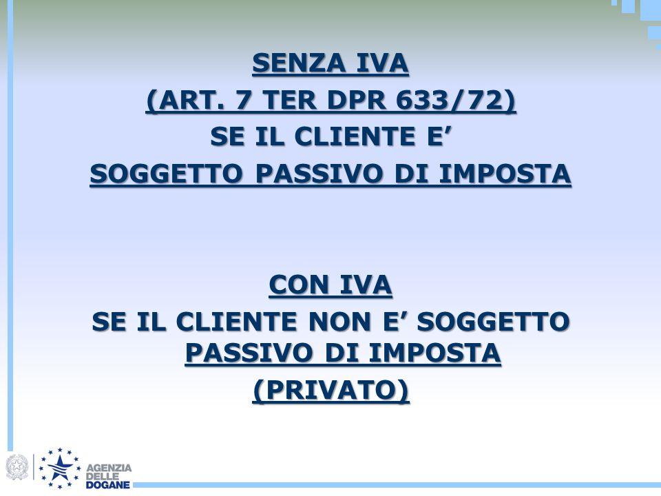 SENZA IVA (ART.