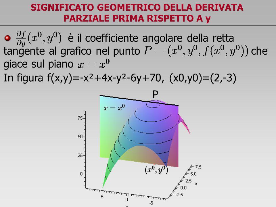 SIGNIFICATO GEOMETRICO DELLA DERIVATA PARZIALE PRIMA RISPETTO A y
