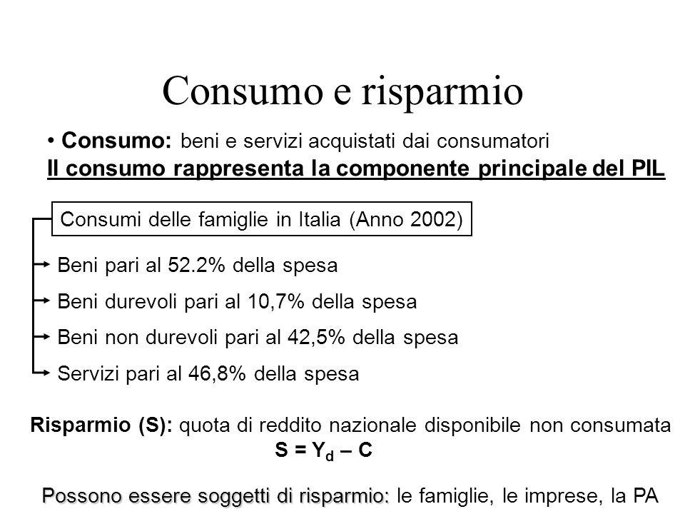Consumi delle famiglie in Italia (Anno 2002)