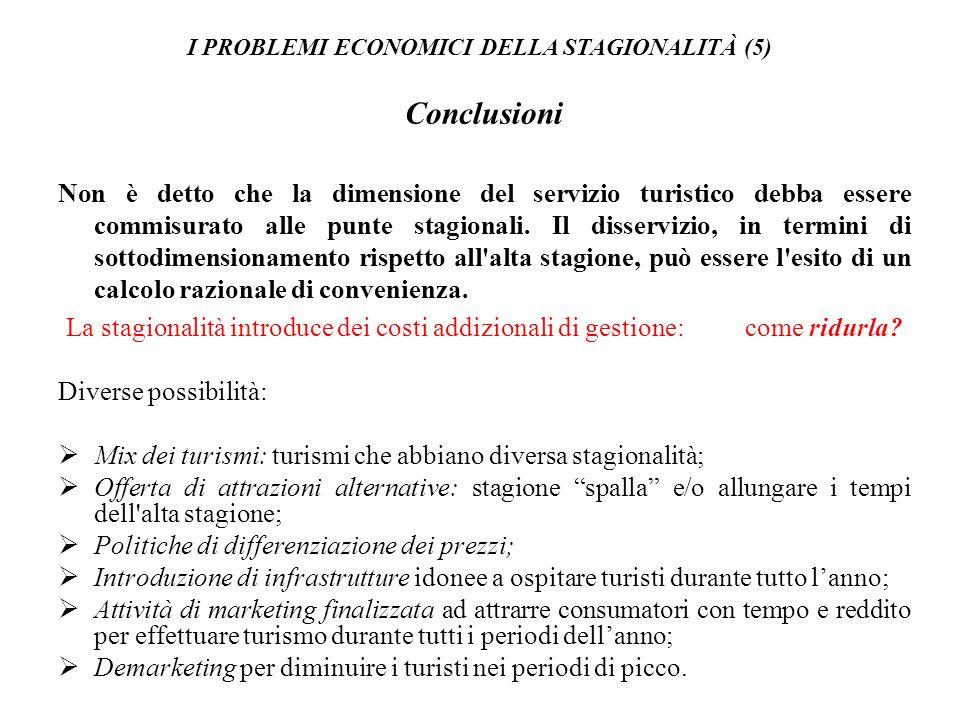I PROBLEMI ECONOMICI DELLA STAGIONALITÀ (5)
