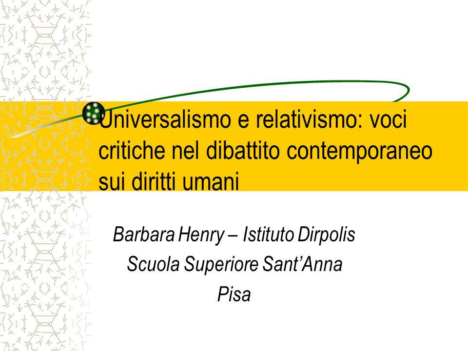 Barbara Henry – Istituto Dirpolis Scuola Superiore Sant'Anna Pisa
