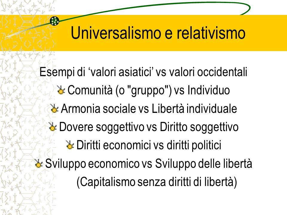 Universalismo e relativismo