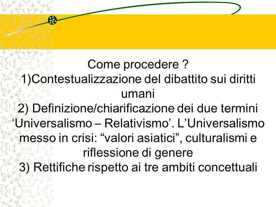 1)Contestualizzazione del dibattito sui diritti umani