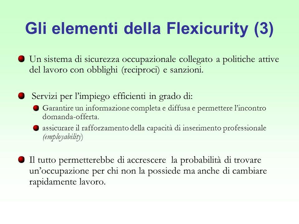 Gli elementi della Flexicurity (3)