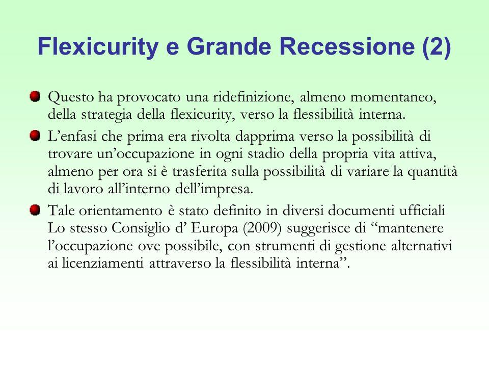 Flexicurity e Grande Recessione (2)