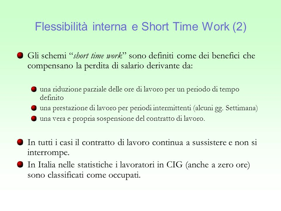 Flessibilità interna e Short Time Work (2)