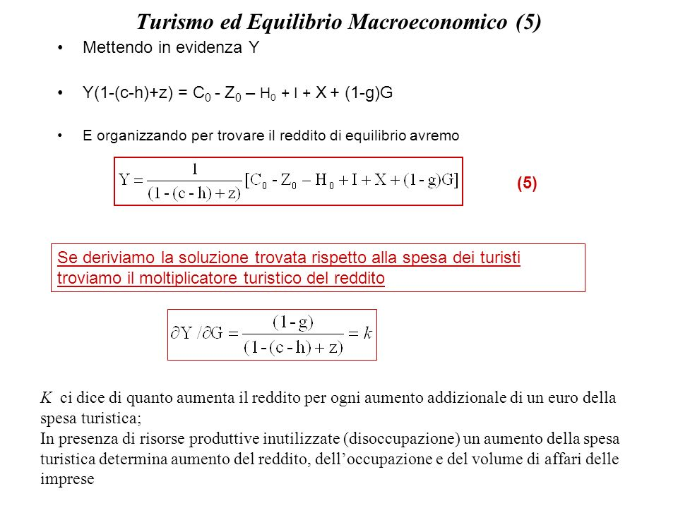Turismo ed Equilibrio Macroeconomico (5)