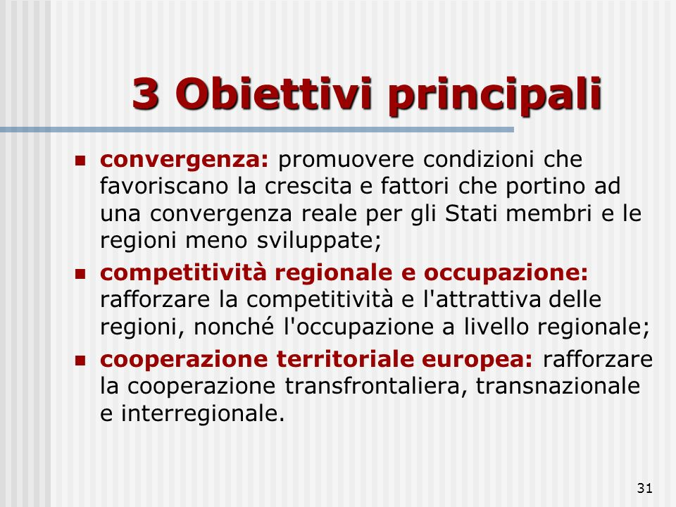 3 Obiettivi principali