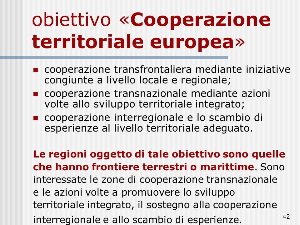 obiettivo «Cooperazione territoriale europea»
