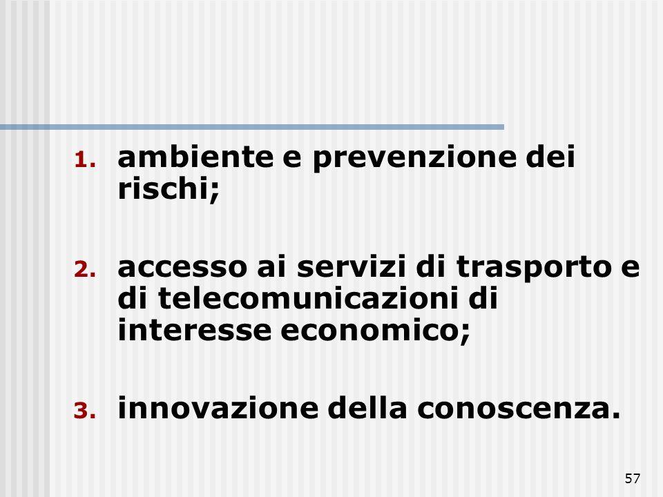 ambiente e prevenzione dei rischi;
