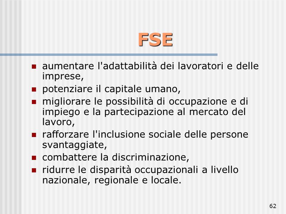FSE aumentare l adattabilità dei lavoratori e delle imprese,