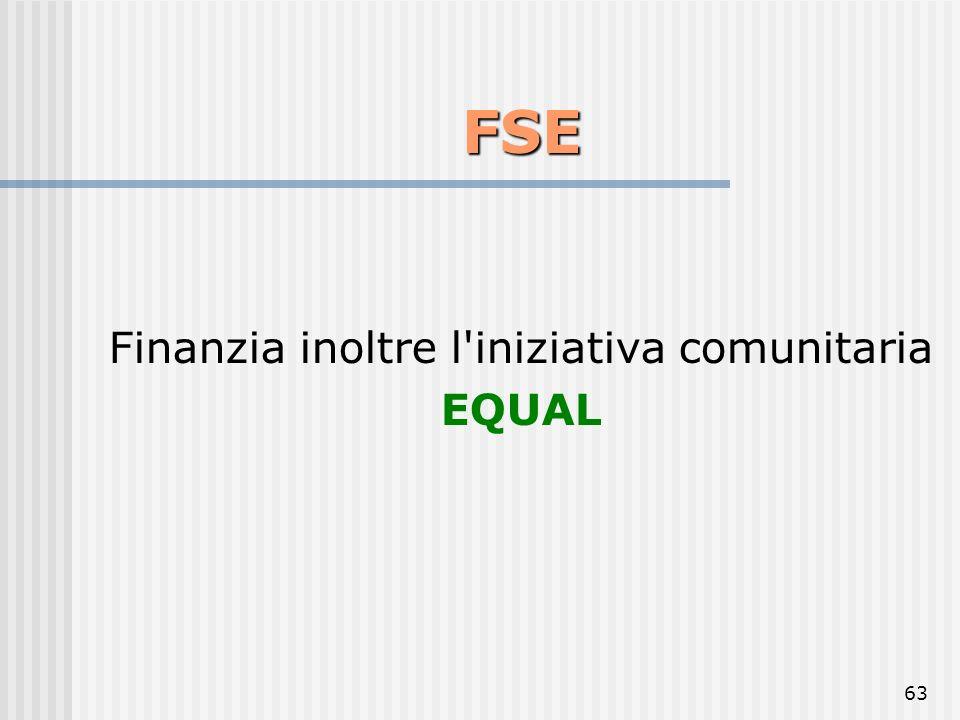 Finanzia inoltre l iniziativa comunitaria