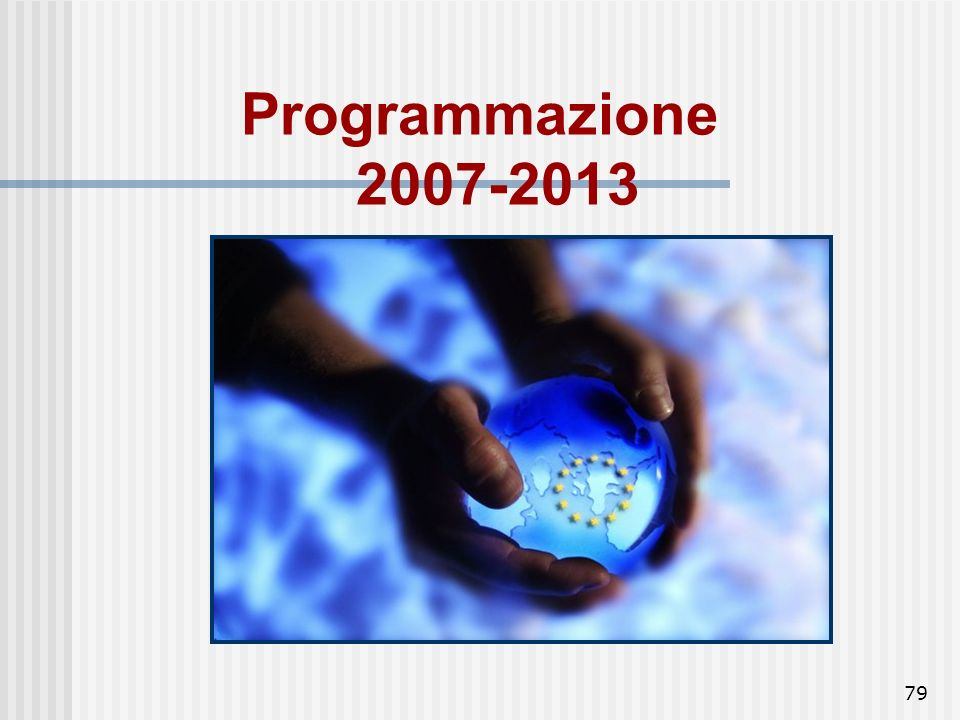 Programmazione 2007-2013