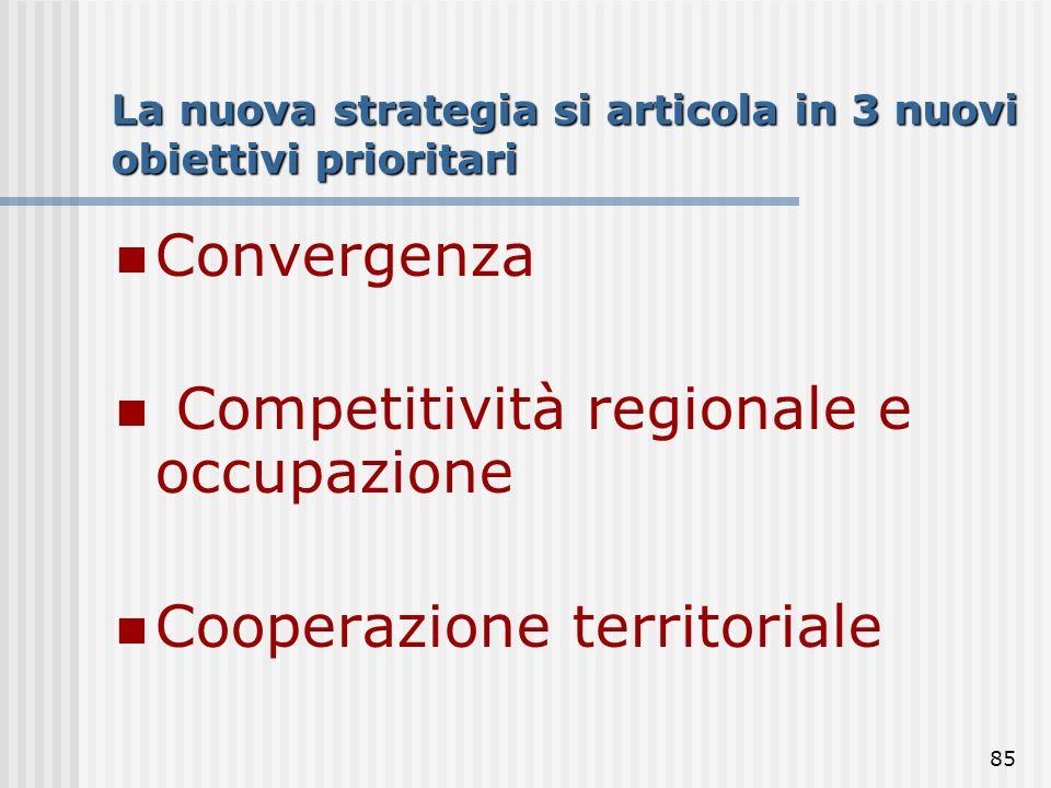 La nuova strategia si articola in 3 nuovi obiettivi prioritari
