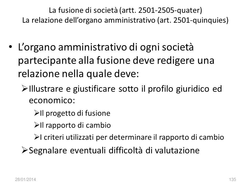 La fusione di società (artt