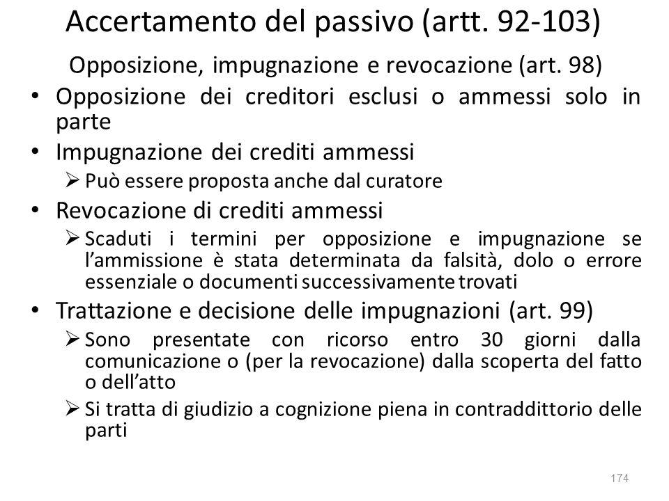 Accertamento del passivo (artt. 92-103)