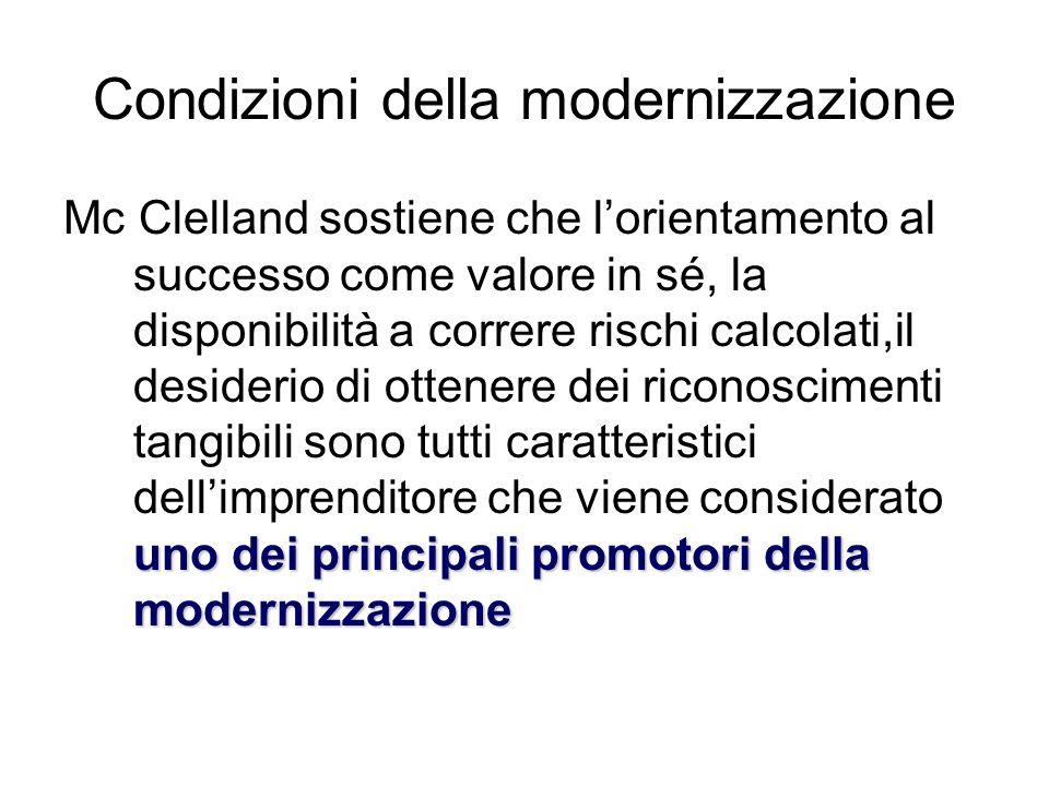 Condizioni della modernizzazione