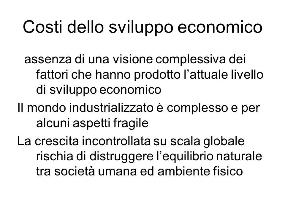 Costi dello sviluppo economico