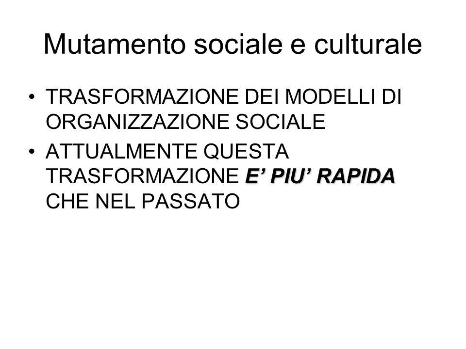 Mutamento sociale e culturale