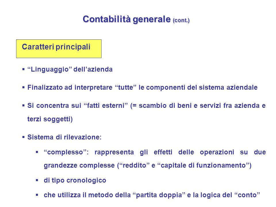 Contabilità generale (cont.)