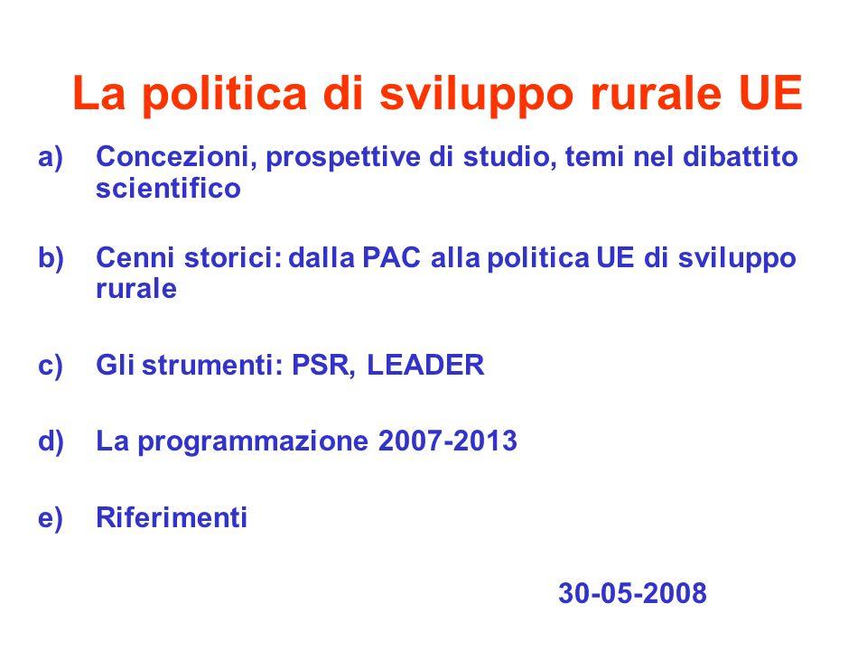 La politica di sviluppo rurale UE