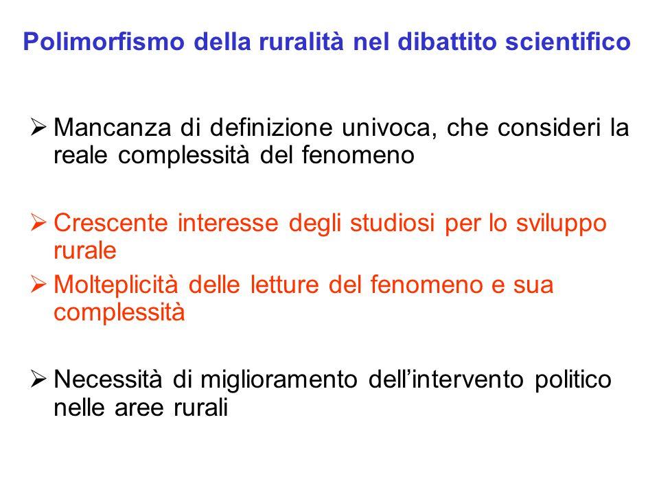 Polimorfismo della ruralità nel dibattito scientifico