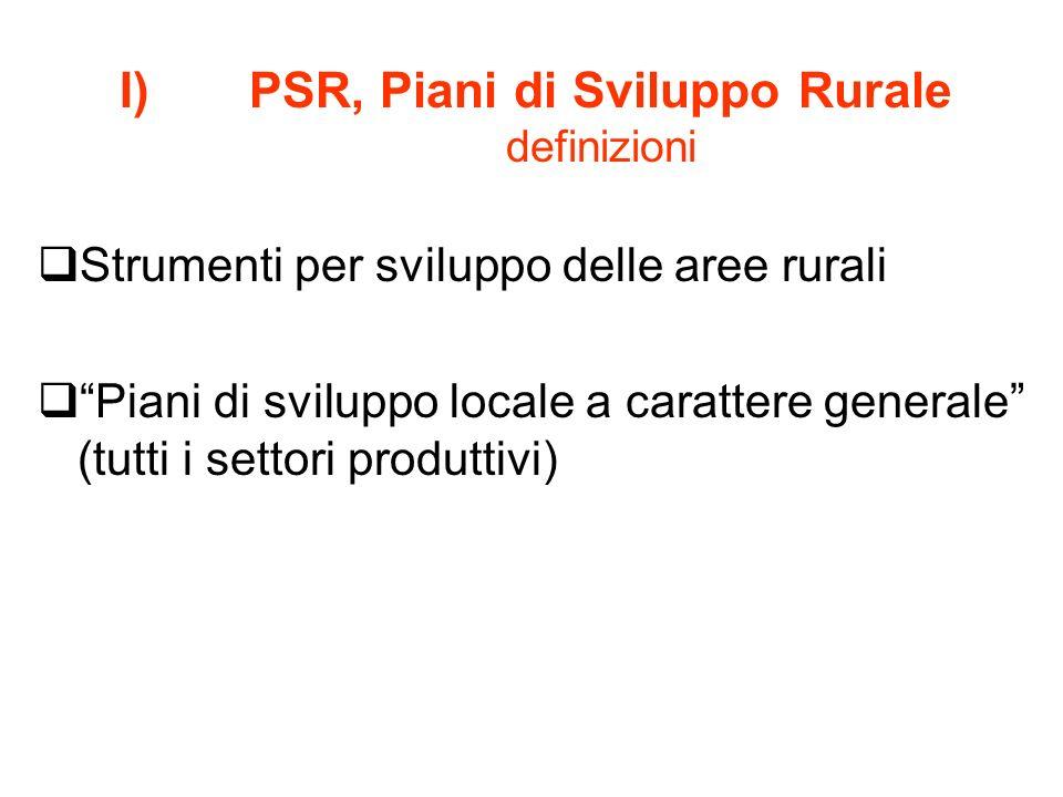 PSR, Piani di Sviluppo Rurale definizioni