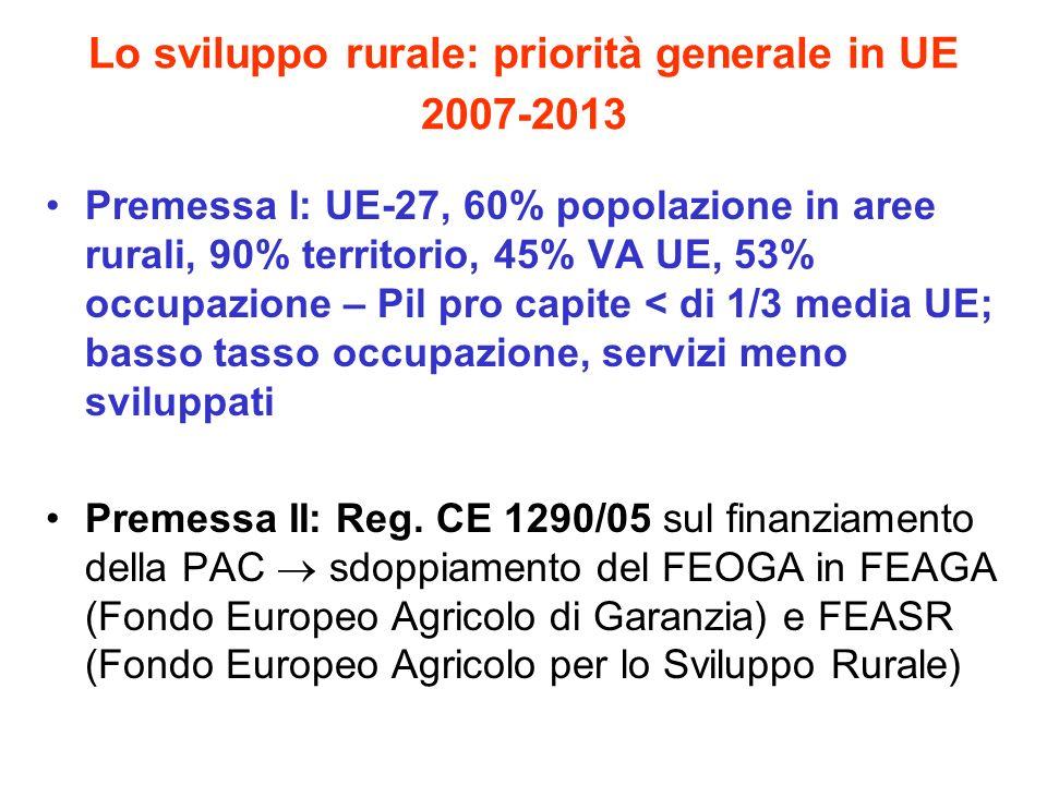 Lo sviluppo rurale: priorità generale in UE 2007-2013