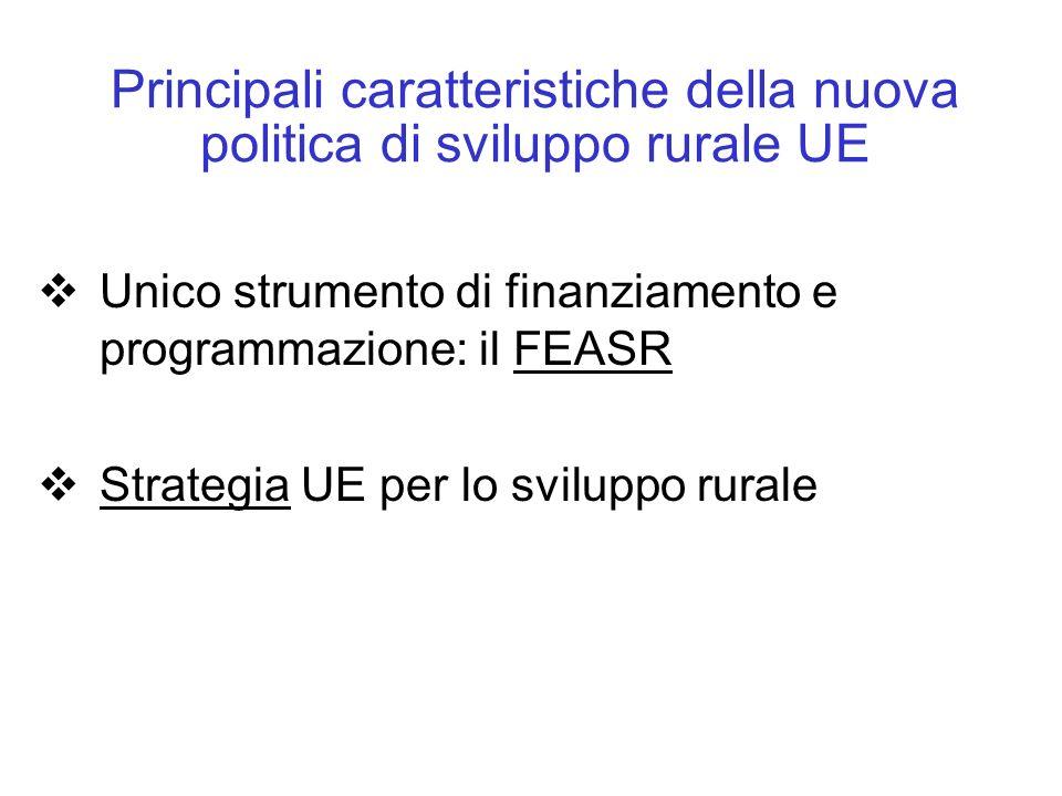 Principali caratteristiche della nuova politica di sviluppo rurale UE