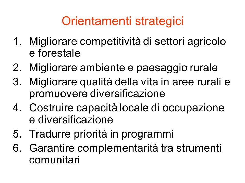 Orientamenti strategici