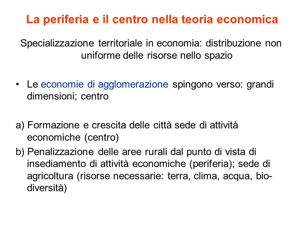 La periferia e il centro nella teoria economica