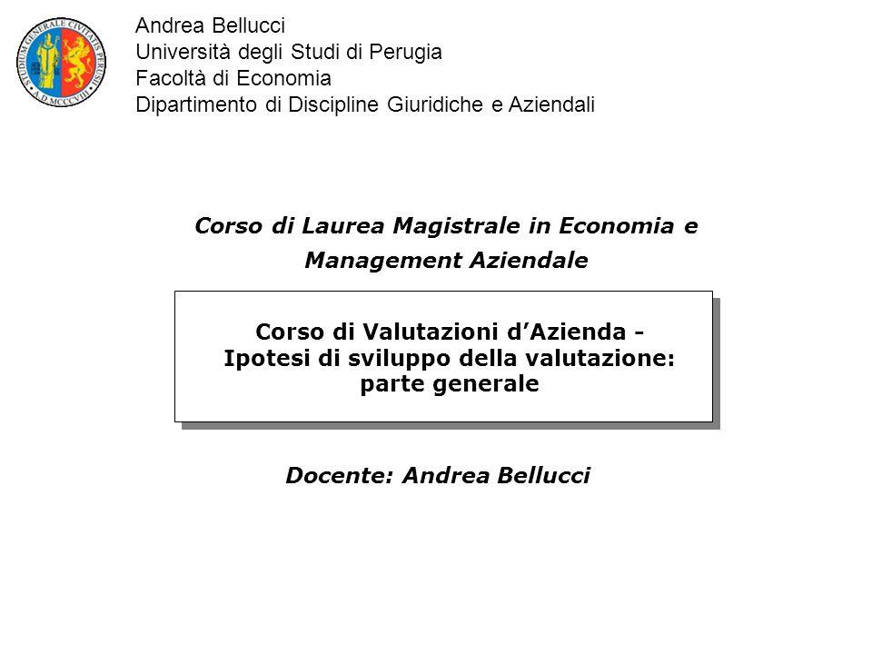 Università degli Studi di Perugia Facoltà di Economia