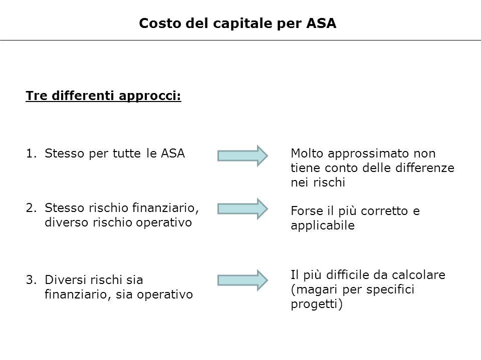 Costo del capitale per ASA