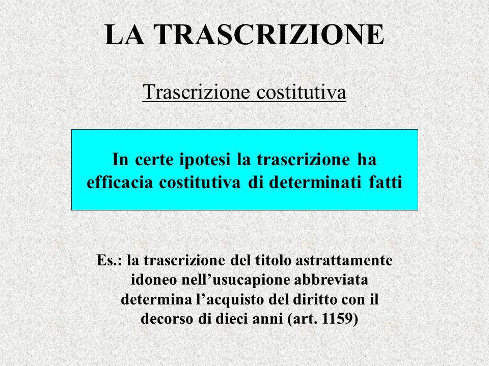 Trascrizione costitutiva