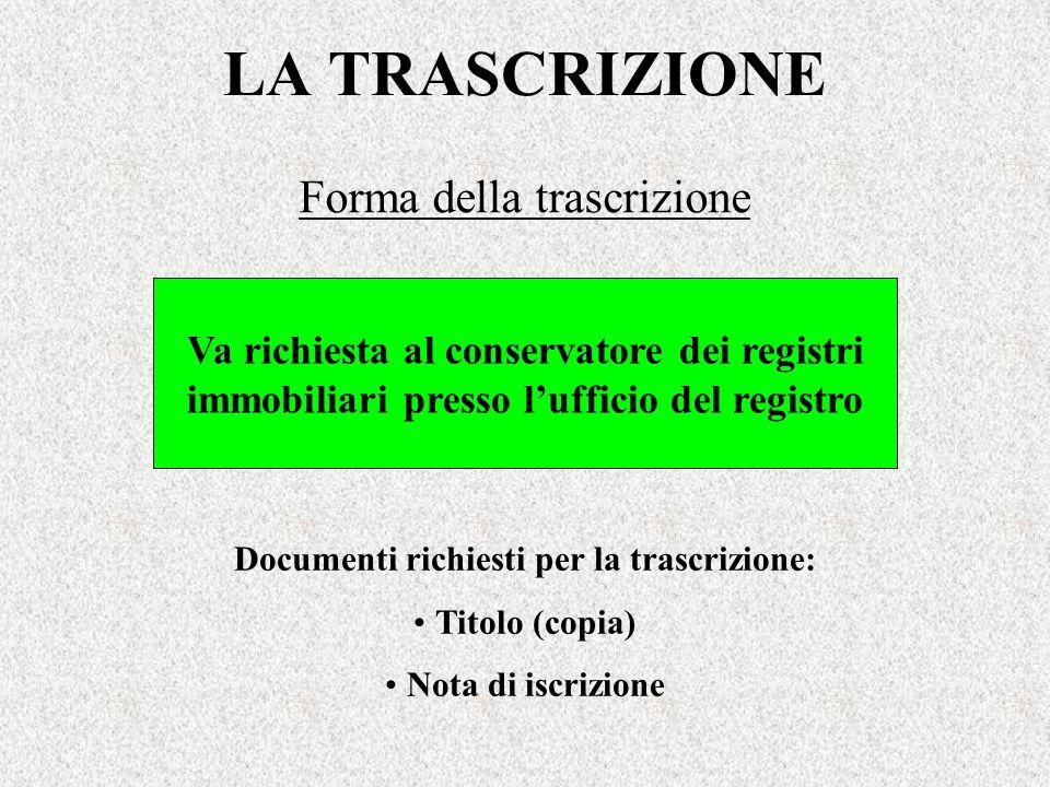Forma della trascrizione