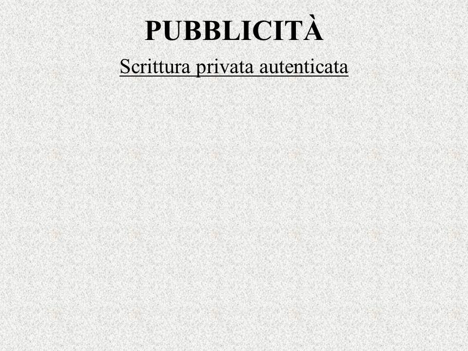 Scrittura privata autenticata