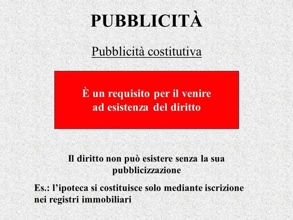 Pubblicità costitutiva