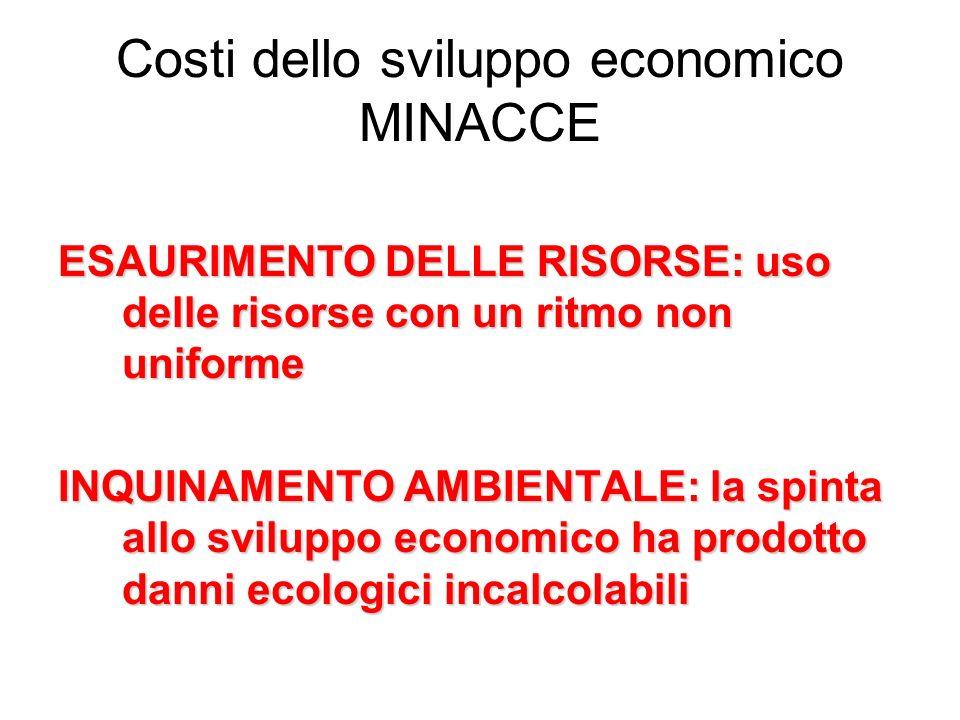 Costi dello sviluppo economico MINACCE