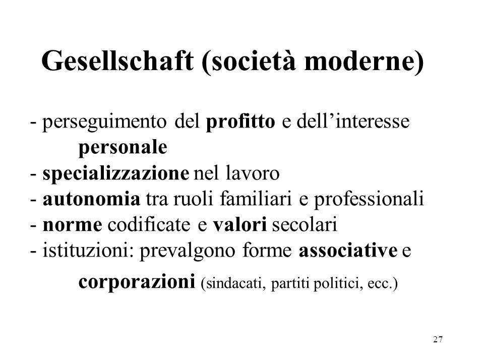 Gesellschaft (società moderne)