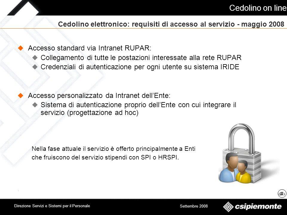 Cedolino elettronico: requisiti di accesso al servizio - maggio 2008